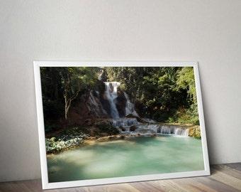 Original Photograph of a waterfall in laos digital download