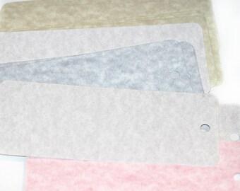 Bookmark Blanks Cardboard Bookmarks Cardstock Bookmarks Assorted Marbled Colors Pre punched Set of 20