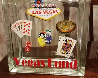 Vegas Fund Glass Block Bank - Now on Sale! Limited time offer!