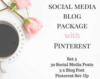 Social Media Blog Plan with Pinterest - Pinterest and Social Media Plan - 3 Blog Social Media Plan & Pinterest