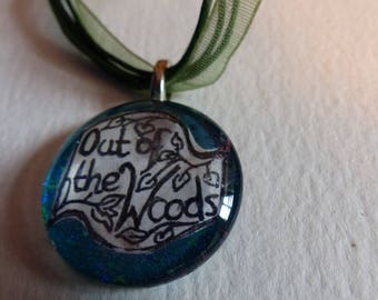 Out of The Woods Glass Pendant
