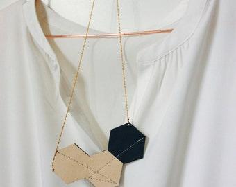 Necklace | Powder Pink | Green