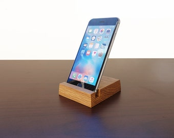 iPhone stand. Wood iPhone 7 7S 8 8S stand. iPhone X Stand. Wooden iPhone Stand. Wood iPhone 6 Stand. Oak iPhone Stand.