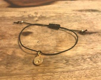 Macrame bracelet, dog charm bracelet