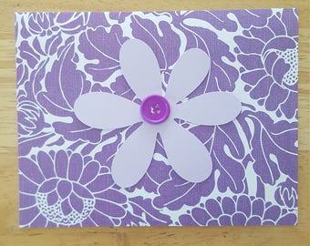 Purple on Purple Blank Card