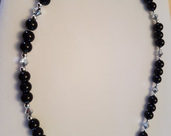 Black and Crystal stone necklace