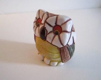 Vintage handmade clay OWL