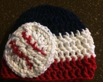 Baseball crocheted cap
