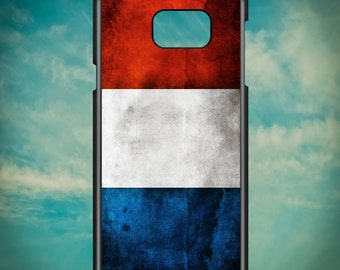Grunge French Flag for Samsung Galaxy Note 3, Samsung Galaxy Note 4, Samsung Galaxy Note 5, Electronic Phone Case