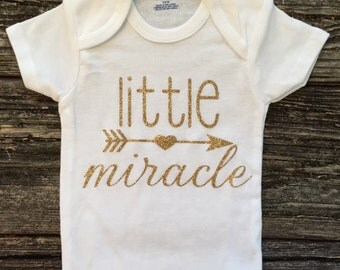 Little Miracle Baby Onesie, Baby Girl Onesie, Baby Shower Gift, New Baby Gift, Baby Girl Gift, Baby Clothing, Infant Clothing, Custom Onesie