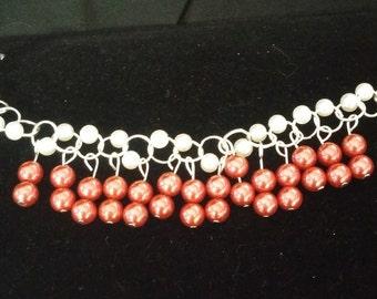 Satin and Pearl bracelet