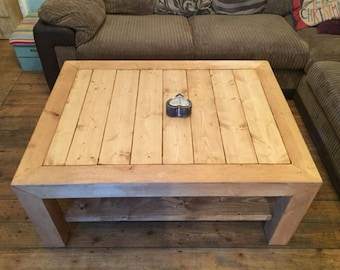 Rustic Chunky Style Coffee Table