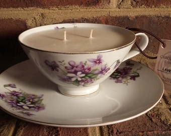 Violets Lavender All Natural Soy Candle