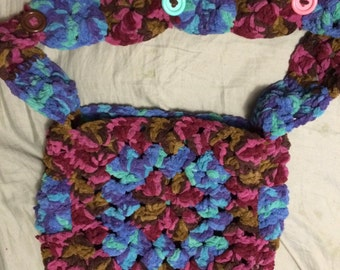 Hand Made Crocheted Handbag/Purse #1