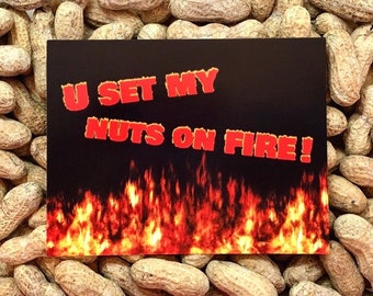 U Set My Nuts On Fire! Gag Gift / Gift for Her / Funny Cards / Prank Gift / Sex Cards / Cards / Funny Cards dirty naughty / Novelty gift