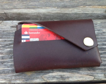 Leather purse with double parts, leather wallet, save coins, Gift for Christmas