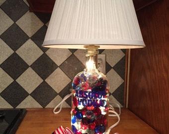 Absolut Vodka Repurposed Bottle Lamp
