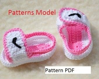 CROCHET PATTERN -Nike Air Jordan sandals nike Crochet Baby Booties pattern