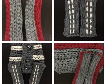 Ready to ship-Long crocheted fingerless gloves