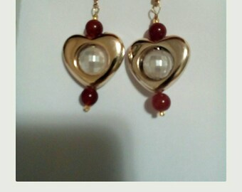 earrings and heart
