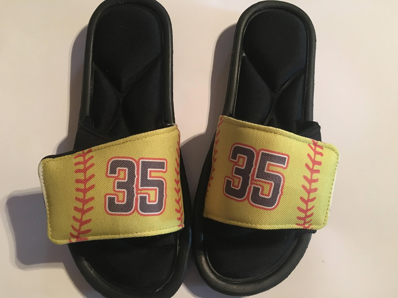 Custom Slide Sandals Custom Slides Custom Sandals Softball