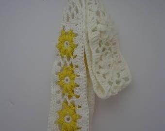 Headband, Summer Crochet Headband, Summer Fashion Accessories, Flower Headband, Daisy Headband