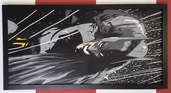 DC Comic Superhero Batman original acrylic painting