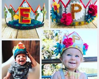 Custom Felt Birthday crowns