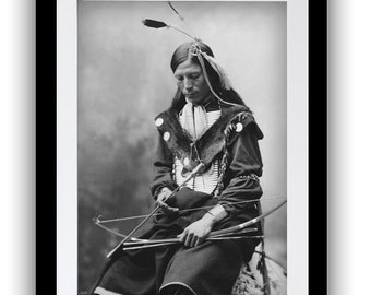 American Indian Photo, Chief Portrait, Indigenous American Photograph, Tribal, Native American, Art Print, Gift for Him, American History