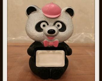 Vintage Avon Randy Pandy Floating Panda Soap Holder, Avon Retro Bathtub Toy, Panda Bear, Bath Toys