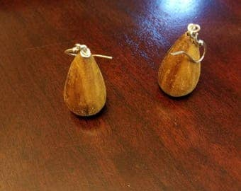 Earrings, Spalted Madrone, Gift Ideas, Boho Earrings, Wooden Gifts, Teardrops, Wooden Earrings, Natural Gifts, Gifts Under, Green Jewelry