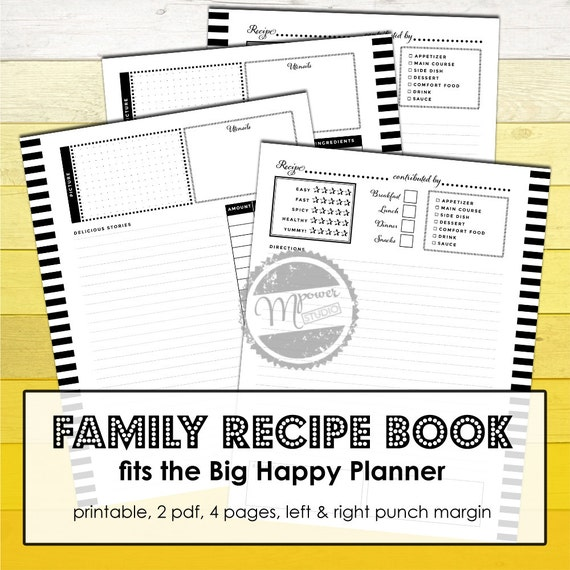 Witty image throughout happy planner recipe printable