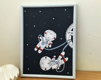 "poster for boy,  Choumi et Michou : ""cosmonauts"""
