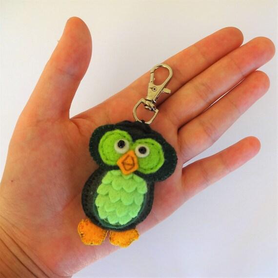 Lime Green Owl Keychain
