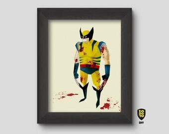Wolverine tribute digital illustration by Alexander Fechner
