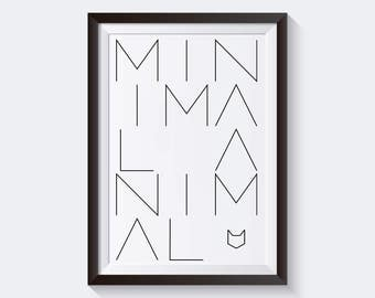 Letters for your frames / Minimal house printable / Minimal Animal Print