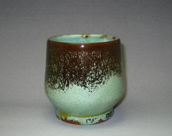 Ceramic Tea Bowl Handmade teacup Pottery yunomi black green glaze Ceramic cup Yunomi Japanese Tea Cup Yunomi Tea ceremony Green tea