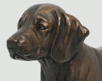 Beagle Standing - Small Cold Cast Bronze Dog Statue - Figurine - Sculpture - Original DANNYQUEST DESIGN