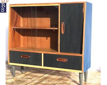 Mid Century Modern Upcycled Cabinet Vintage Retro