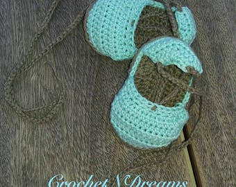Crochet baby espadrille Summer baby shoes Baby sandals Newborn shoes  Baby shower gift Baby girl shower Crocheted baby sandals Summer stile