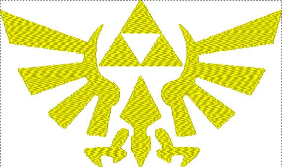 Hyrule crest embroidery file from