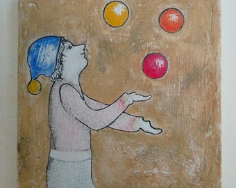 Painting the juggler