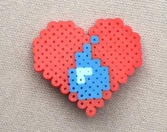Water is Love Heart Pin