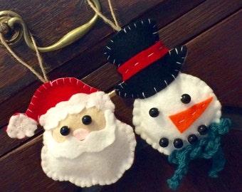 Hanging Santa and Snowman Christmas Decoration - Christmas Tree