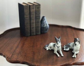 "Two Ceramic Dogs - ""Brothers"""