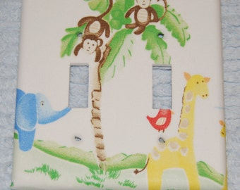 jungle friends~ double switch plate