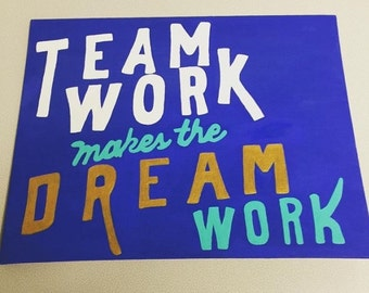 Team Work Makes the Dream Work - Office Life Canvas
