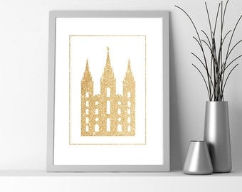 Modern Salt Lake Temple Printable 8.5x11 Poster