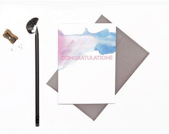 Congratulations Card | Celebration | Watercolour | Greeting Card
