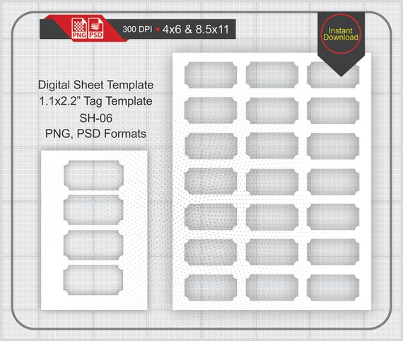 11x22quot soho tag label template instand download make for 2x2 label template
